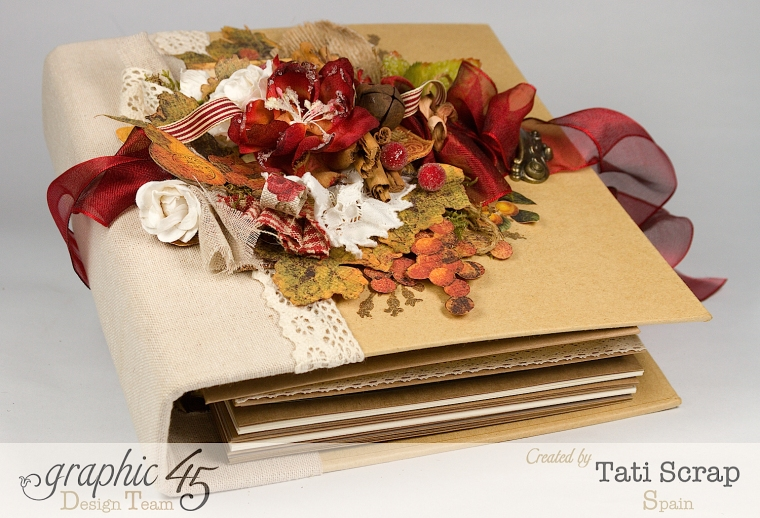 "Tati, ""Dreams Of Autumn"" Recice Book, Mixed Media Album, Product by Graphic 45, Photo 0"