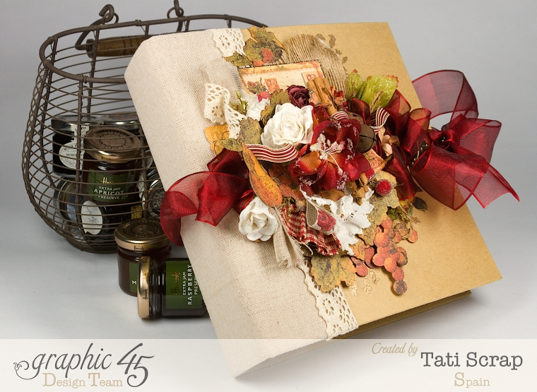 "Tati, ""Dreams Of Autumn"" Recice Book, Mixed Media Album, Product by Graphic 45, Photo 1"