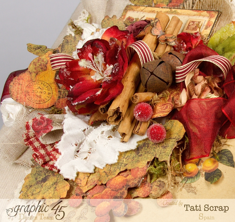 "Tati, ""Dreams Of Autumn"" Recice Book, Mixed Media Album, Product by Graphic 45, Photo 12"