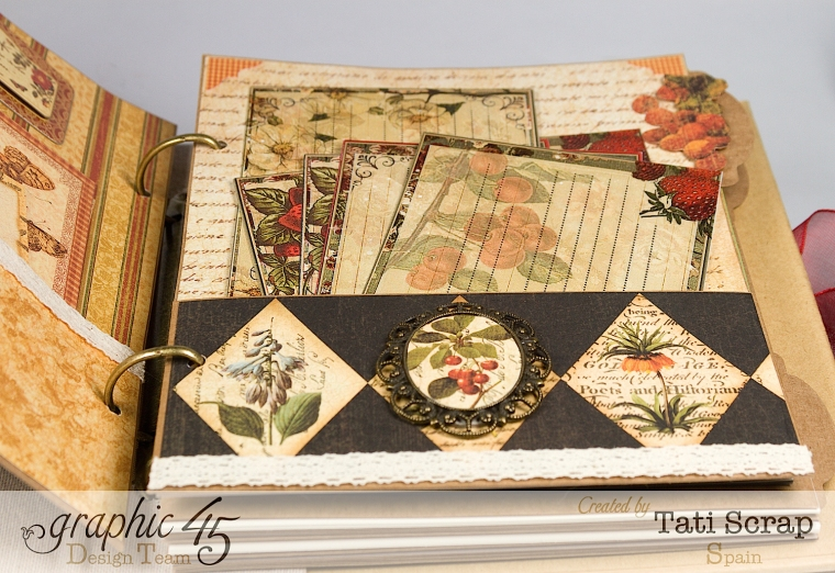 "Tati, ""Dreams Of Autumn"" Recice Book, Mixed Media Album, Product by Graphic 45, Photo 16"