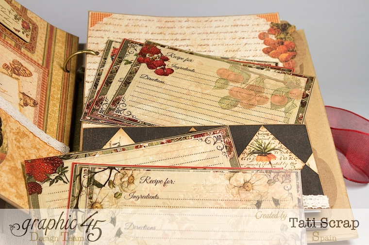 "Tati, ""Dreams Of Autumn"" Recice Book, Mixed Media Album, Product by Graphic 45, Photo 17"