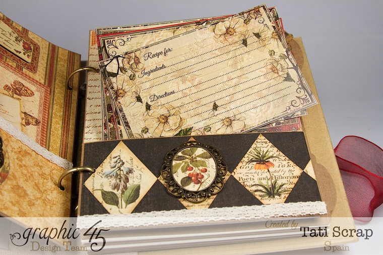 "Tati, ""Dreams Of Autumn"" Recice Book, Mixed Media Album, Product by Graphic 45, Photo 18"