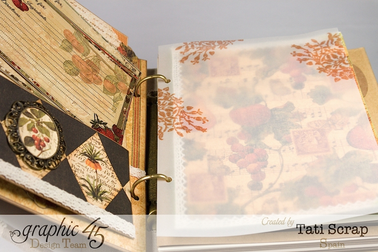 "Tati, ""Dreams Of Autumn"" Recice Book, Mixed Media Album, Product by Graphic 45, Photo 19"