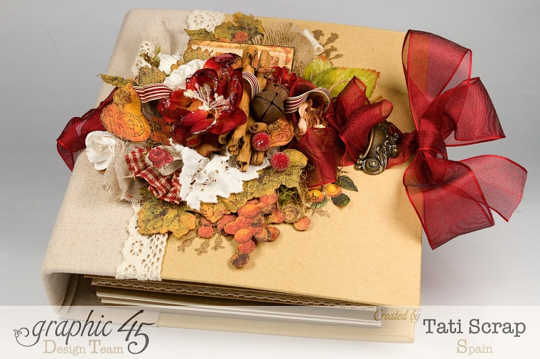 "Tati, ""Dreams Of Autumn"" Recice Book, Mixed Media Album, Product by Graphic 45, Photo 2"