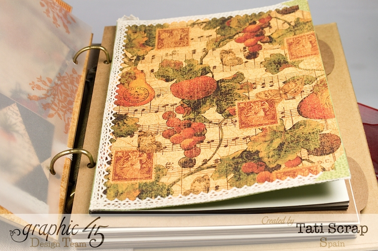 "Tati, ""Dreams Of Autumn"" Recice Book, Mixed Media Album, Product by Graphic 45, Photo 20"