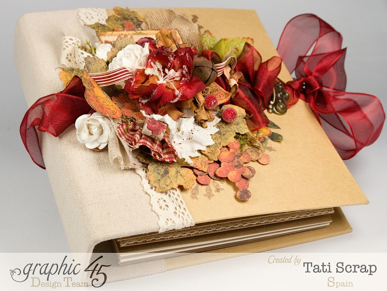 "Tati, ""Dreams Of Autumn"" Recice Book, Mixed Media Album, Product by Graphic 45, Photo 3"