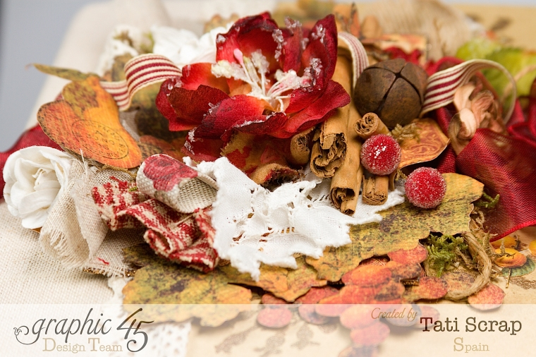 "Tati, ""Dreams Of Autumn"" Recice Book, Mixed Media Album, Product by Graphic 45, Photo 6"