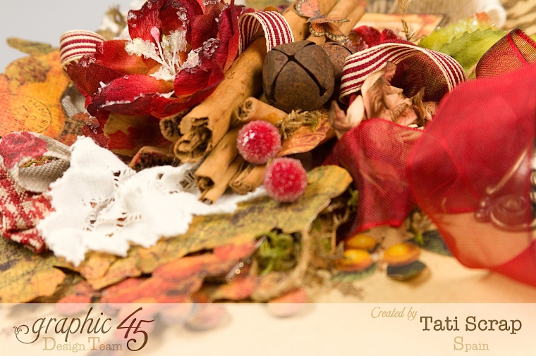 "Tati, ""Dreams Of Autumn"" Recice Book, Mixed Media Album, Product by Graphic 45, Photo 7"