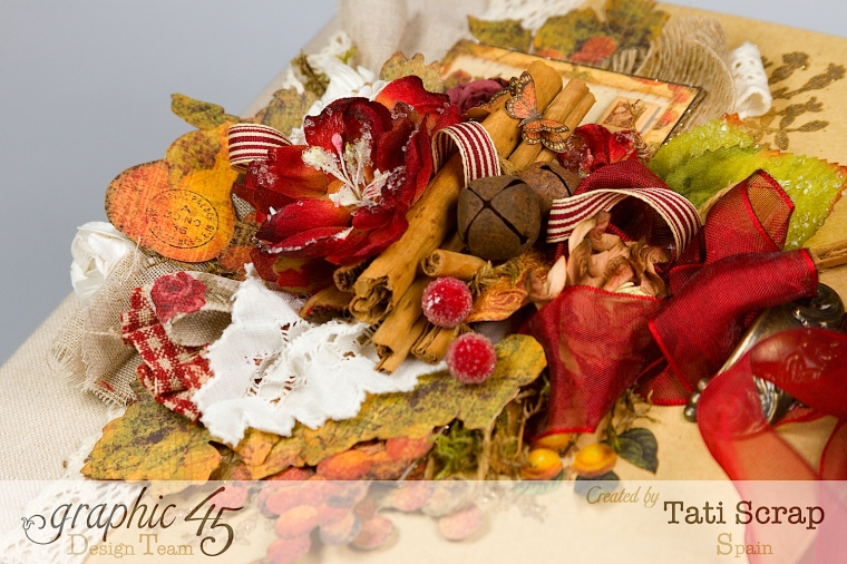 "Tati, ""Dreams Of Autumn"" Recice Book, Mixed Media Album, Product by Graphic 45, Photo 8"