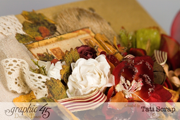 "Tati, ""Dreams Of Autumn"" Recice Book, Mixed Media Album, Product by Graphic 45, Photo 9"