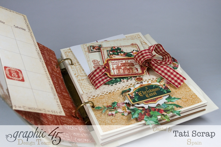 Tati, Mixed Media Album, A Christmas Carol, Product by Graphic 45, Photo 10