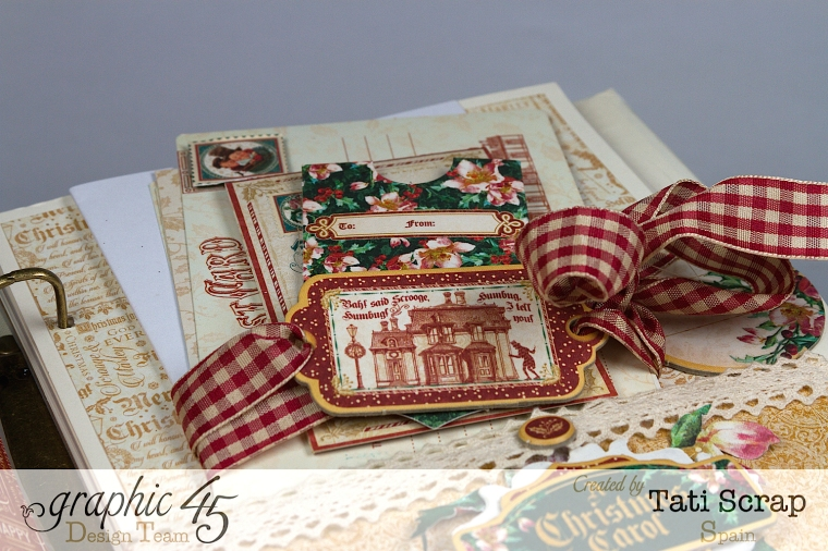 Tati, Mixed Media Album, A Christmas Carol, Product by Graphic 45, Photo 11
