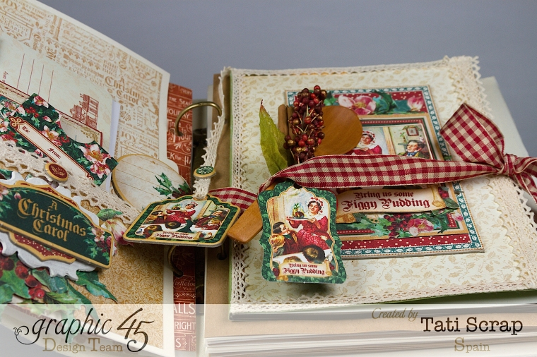 Tati, Mixed Media Album, A Christmas Carol, Product by Graphic 45, Photo 12
