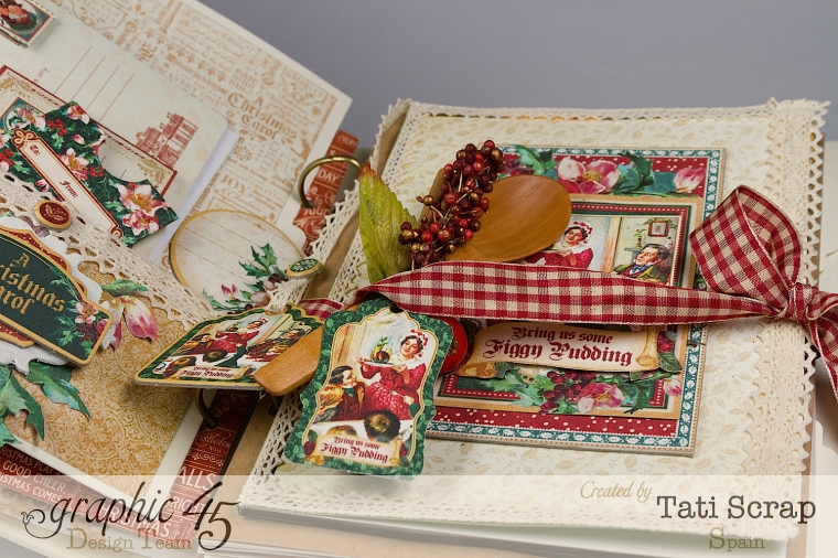 Tati, Mixed Media Album, A Christmas Carol, Product by Graphic 45, Photo 13