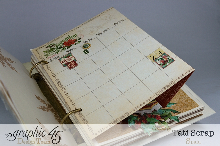 Tati, Mixed Media Album, A Christmas Carol, Product by Graphic 45, Photo 9