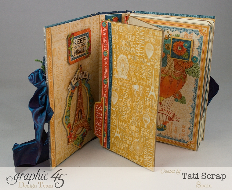 Tati, World's Fair Mini Album, Product by Graphic 45, Photo 10