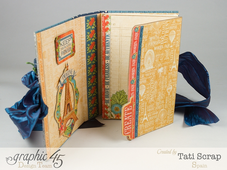 Tati, World's Fair Mini Album, Product by Graphic 45, Photo 9