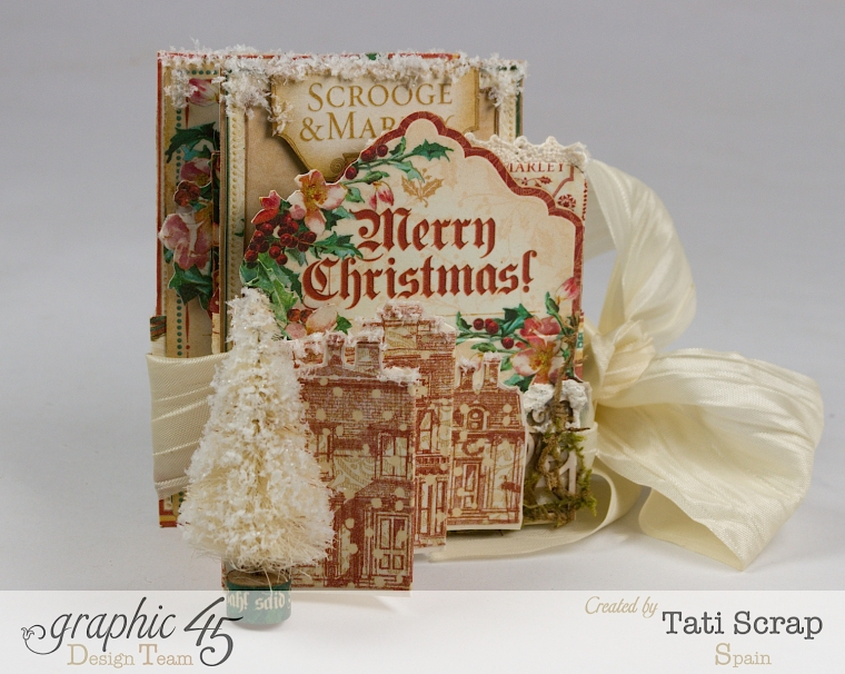 Tati, Pull-out Photo Album, A Christmas Carol, Product by Graphic 45, Photo 1