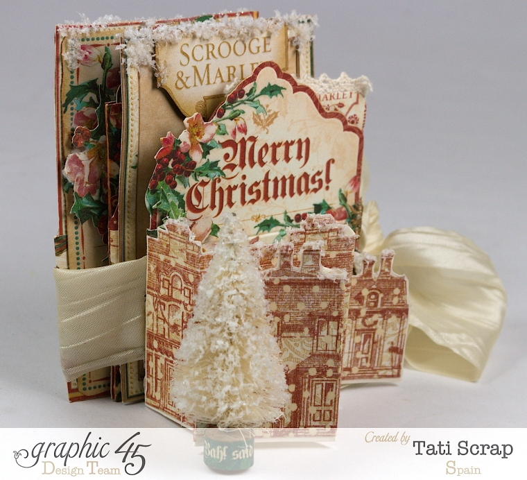 Tati, Pull-out Photo Album, A Christmas Carol, Product by Graphic 45, Photo 2