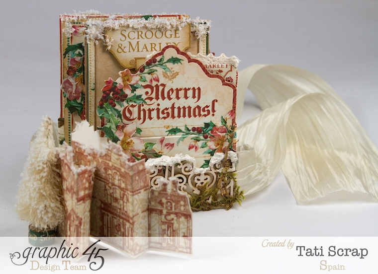 Tati, Pull-out Photo Album, A Christmas Carol, Product by Graphic 45, Photo 3