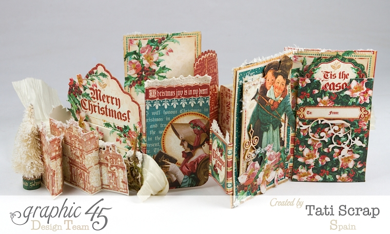 Tati, Pull-out Photo Album, A Christmas Carol, Product by Graphic 45, Photo 4