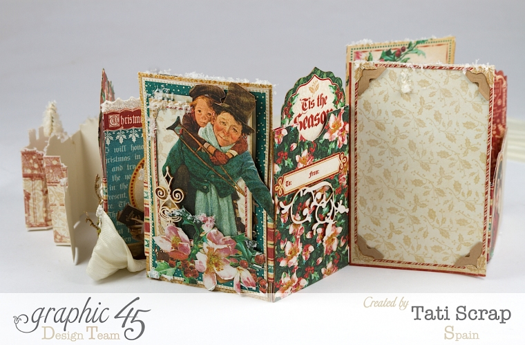 Tati, Pull-out Photo Album, A Christmas Carol, Product by Graphic 45, Photo 5