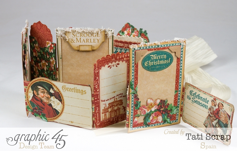 Tati, Pull-out Photo Album, A Christmas Carol, Product by Graphic 45, Photo 7
