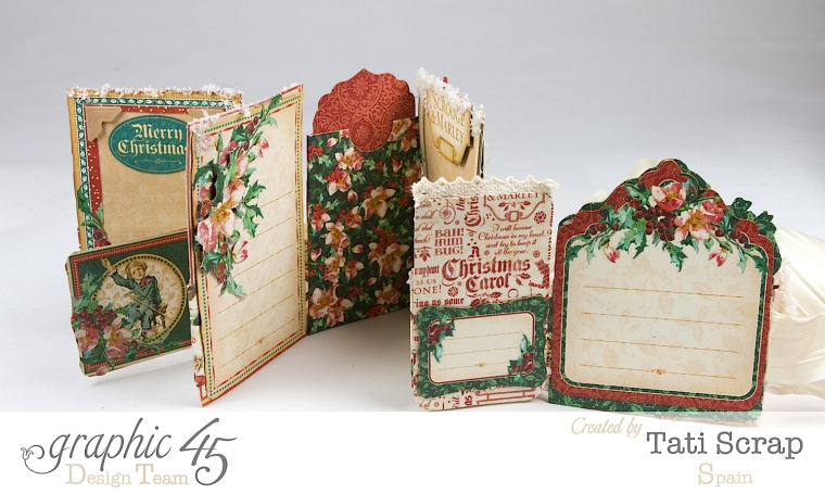 Tati, Pull-out Photo Album, A Christmas Carol, Product by Graphic 45, Photo 8