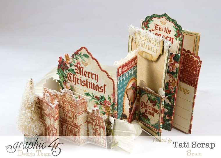 Tati, Pull-out Photo Album, A Christmas Carol, Product by Graphic 45, Photo10