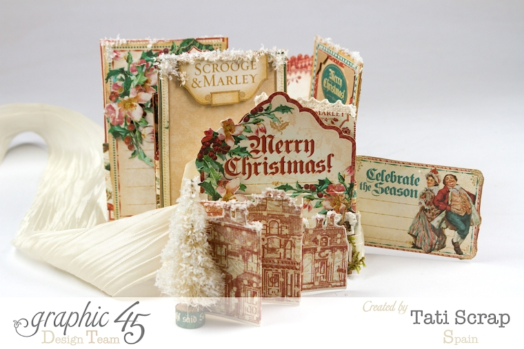 Tati, Pull-out Photo Album, A Christmas Carol, Product by Graphic 45, Photo9