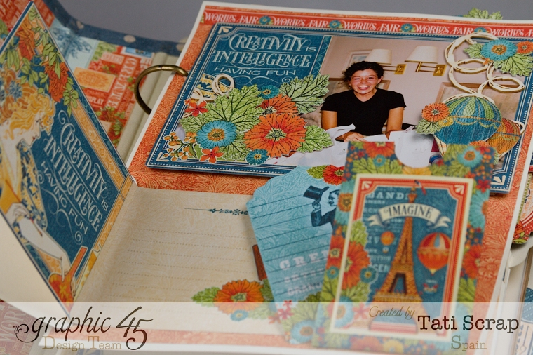 Tati, World´s Fair, Mixed Media Album, Product by Graphic 45, Photo 10