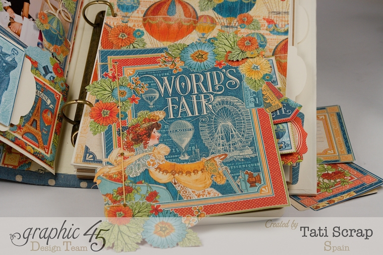 Tati, World´s Fair, Mixed Media Album, Product by Graphic 45, Photo 13