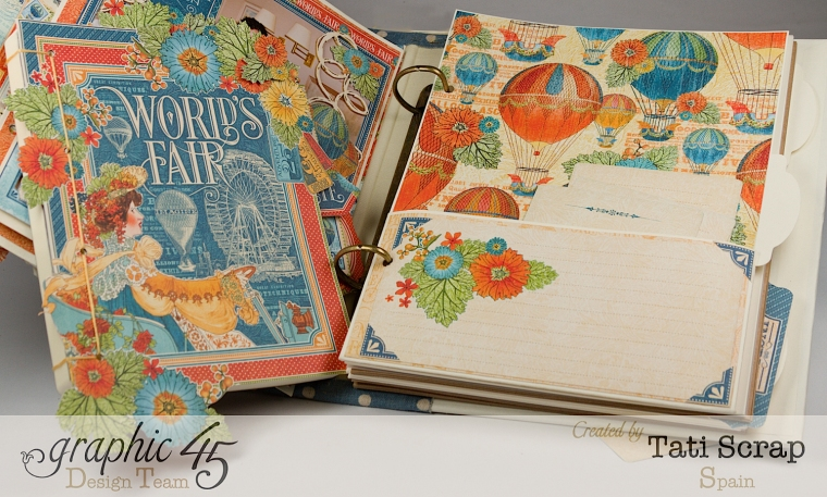 Tati, World´s Fair, Mixed Media Album, Product by Graphic 45, Photo 14