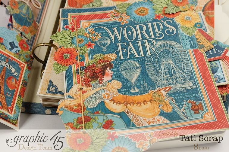 Tati, World´s Fair, Mixed Media Album, Product by Graphic 45, Photo 15