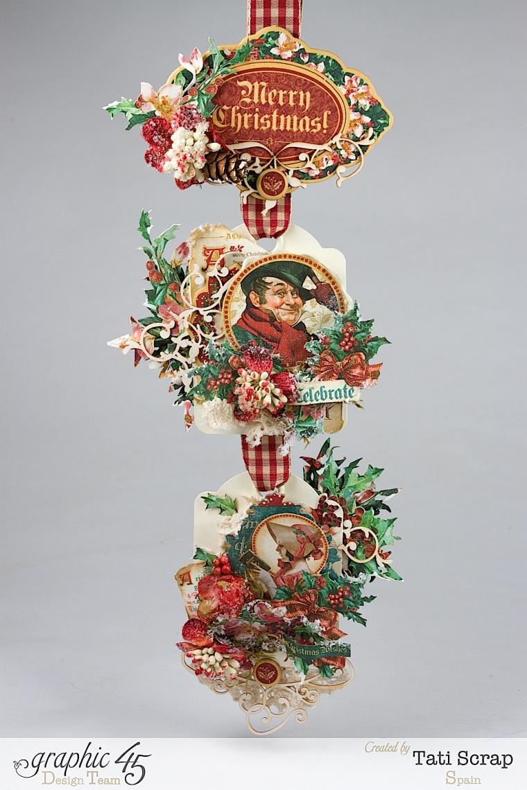 Tati,Tag Banner, Christmas Carol, Product by Graphic 45, Photo 1