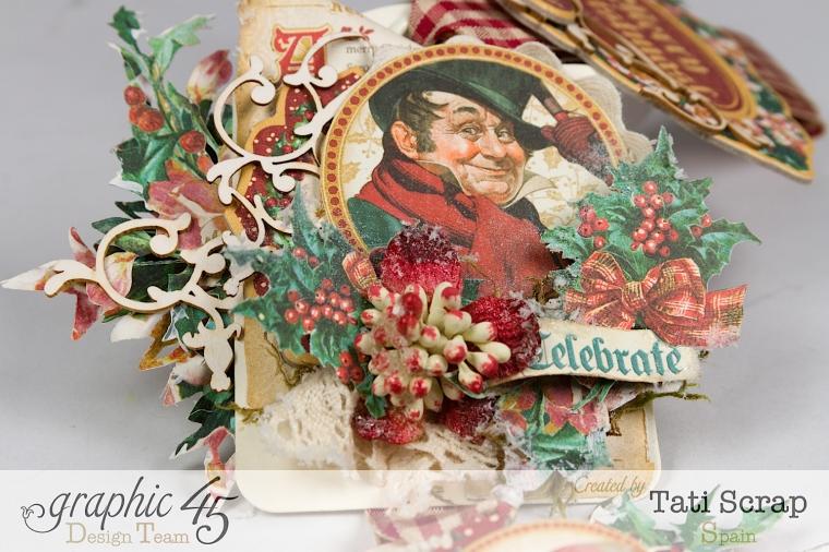 Tati,Tag Banner, Christmas Carol, Product by Graphic 45, Photo 10
