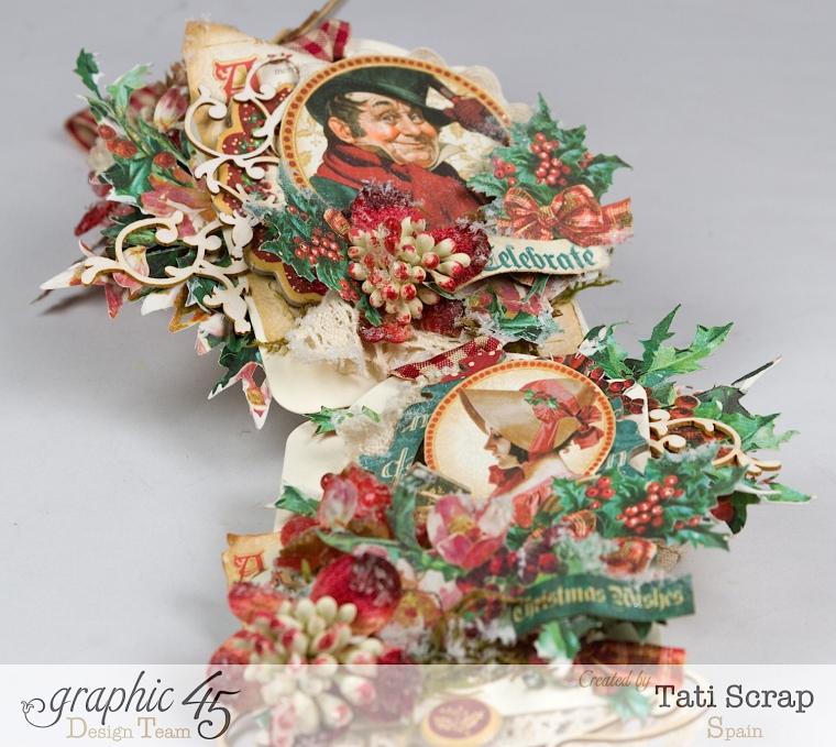 Tati,Tag Banner, Christmas Carol, Product by Graphic 45, Photo 12