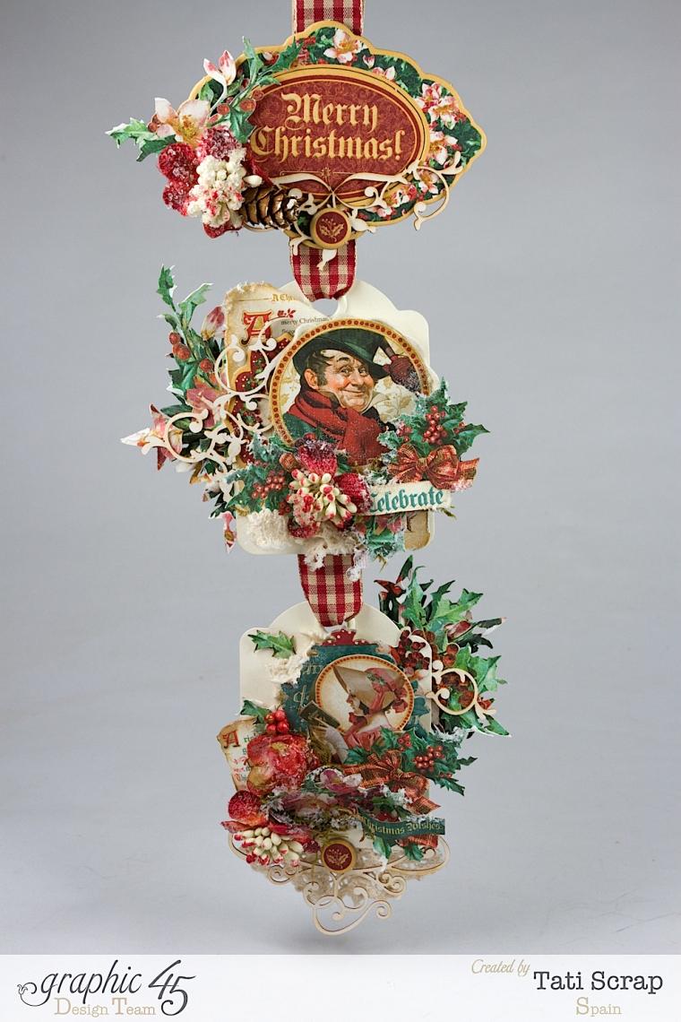 Tati,Tag Banner, Christmas Carol, Product by Graphic 45, Photo 2