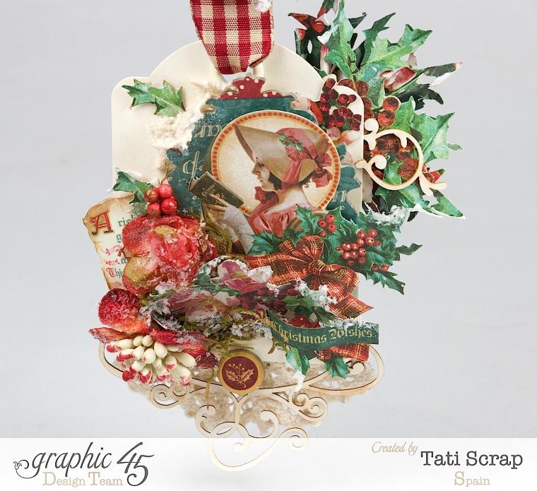 Tati,Tag Banner, Christmas Carol, Product by Graphic 45, Photo 3