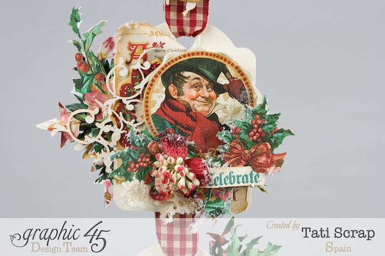 Tati,Tag Banner, Christmas Carol, Product by Graphic 45, Photo 4