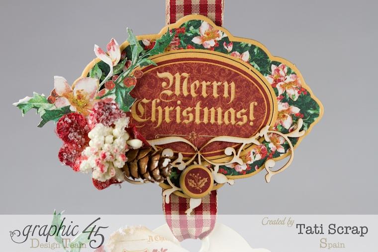 Tati,Tag Banner, Christmas Carol, Product by Graphic 45, Photo 5