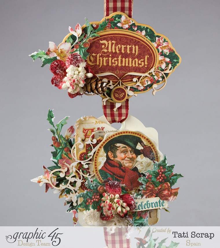 Tati,Tag Banner, Christmas Carol, Product by Graphic 45, Photo 6