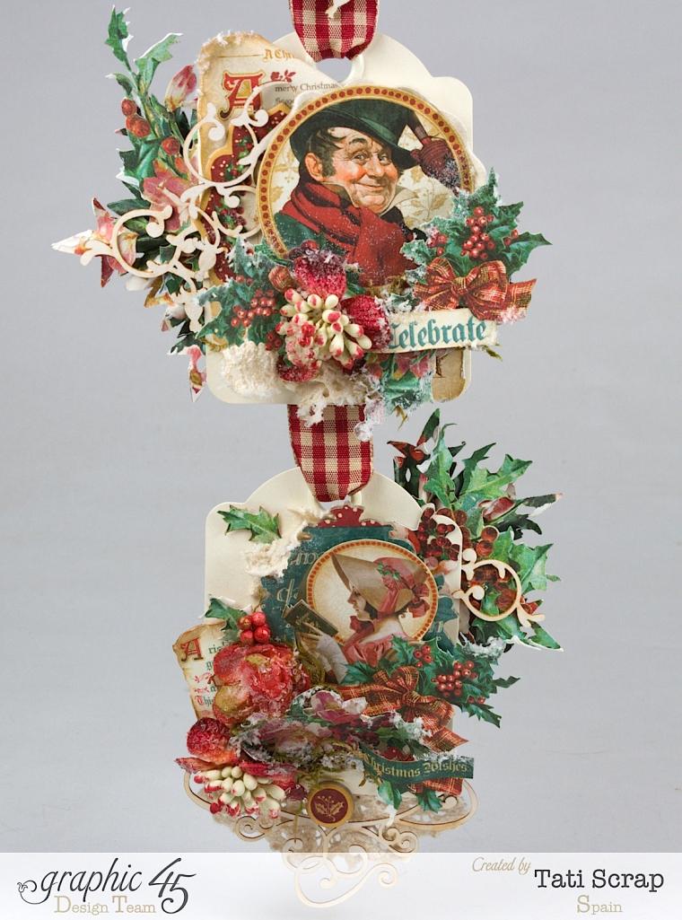 Tati,Tag Banner, Christmas Carol, Product by Graphic 45, Photo 7