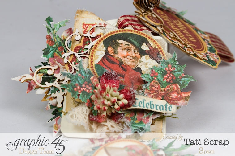 Tati,Tag Banner, Christmas Carol, Product by Graphic 45, Photo 9