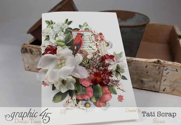 Tati, Card, Time to Flourish, Product by Graphic 45,Photo 2