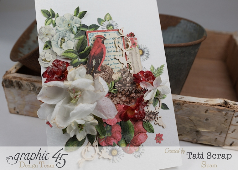 Tati, Card, Time to Flourish, Product by Graphic 45,Photo 3