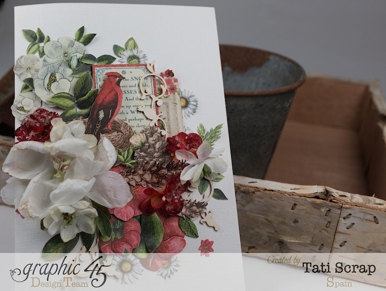 Tati, Card, Time to Flourish, Product by Graphic 45,Photo 4