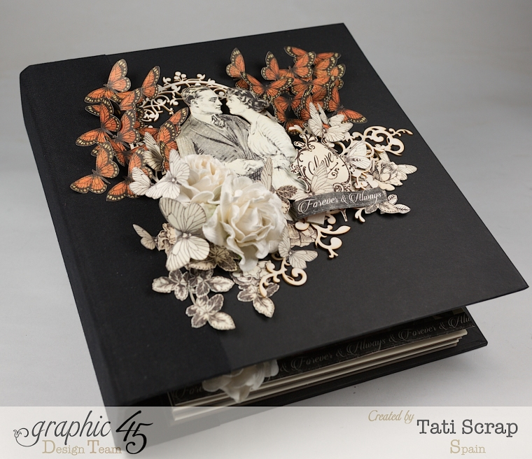 Tati, Mixed media Album, Mon Amour Collection, Product by Graphic 45, Photo 1