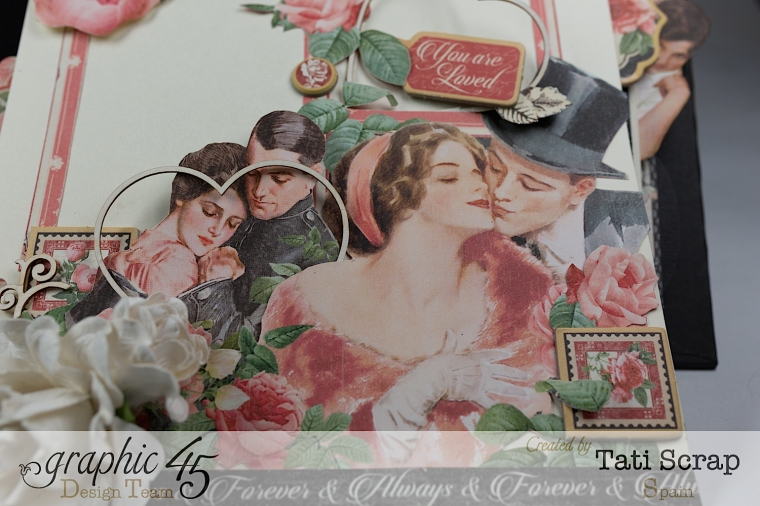 Tati, Mixed media Album, Mon Amour Collection, Product by Graphic 45, Photo 12