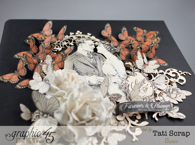 Tati, Mixed media Album, Mon Amour Collection, Product by Graphic 45, Photo 2
